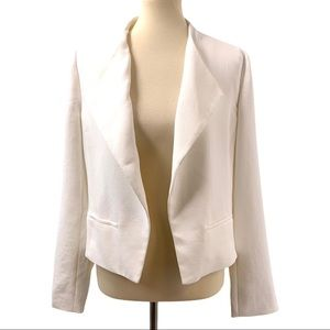 Cartonnier Anthropologie Arctic White Open Blazer